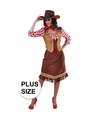 Grote maten cowgirl jurk met geruite blouse voor dames